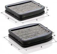 Kabínový filter MANN FILTER CUK 18 000-2