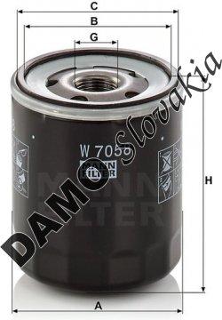 Olejový filter MANN FILTER W 7058