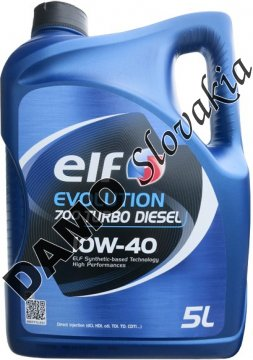 ELF EVOLUTION 700 TURBO DIESEL 10W-40 - 5l
