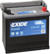 EXIDE EXCELL 12V 45Ah 330A, EB450