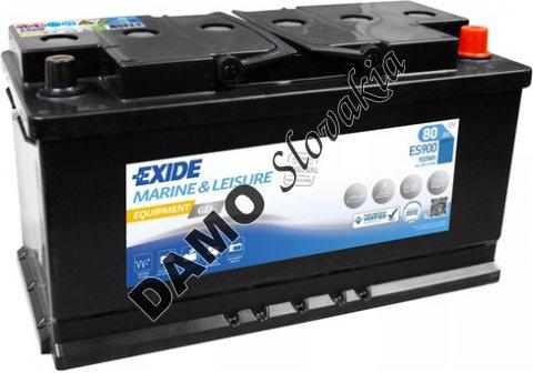 EXIDE EQUIPMENT GEL 12V 80Ah 900Wh, ES900