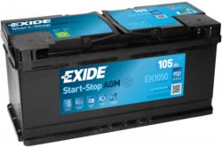 EXIDE AGM 12V 105Ah 950A, EK1050