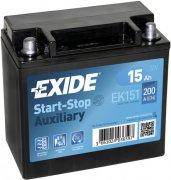 EXIDE AGM 12V 15Ah 200A, EK151