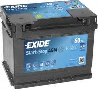 EXIDE AGM 12V 60Ah 680A,  EK600