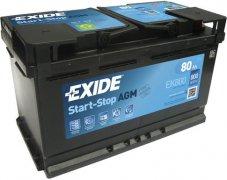 EXIDE AGM 12V 80Ah 800A, EK800