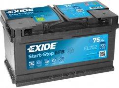 EXIDE ECM 12V 75Ah 730A, EL752