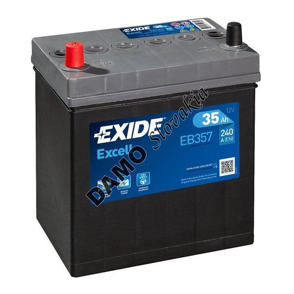 exide excell 12v 35ah 240a eb357 motorov. Black Bedroom Furniture Sets. Home Design Ideas