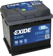 EXIDE EXCELL 12V 50Ah 450A, EB500
