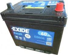EXIDE EXCELL 12V 60Ah 480A, EB604