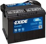 EXIDE EXCELL 12V 60Ah 640A, EB608