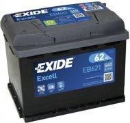 EXIDE EXCELL 12V 62Ah 540A, EB621