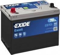 EXIDE EXCELL 12V 70Ah 540A, EB705