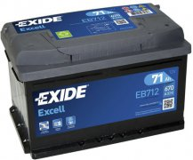 EXIDE EXCELL 12V 71Ah 670A, EB712