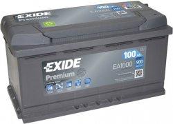 EXIDE PREMIUM 12V 100Ah 900A, EA1000