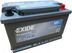 EXIDE PREMIUM 12V 105Ah 850A, EA1050