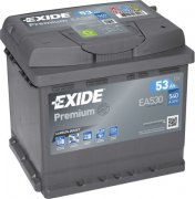 EXIDE PREMIUM 12V 53Ah 540A, EA530