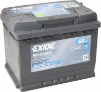 EXIDE PREMIUM 12V 60Ah 600A, EA601