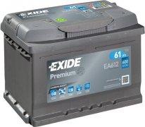 EXIDE PREMIUM 12V 61Ah 600A, EA612