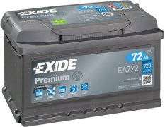 EXIDE PREMIUM 12V 72Ah 720A, EA722