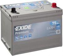 EXIDE PREMIUM 12V 75Ah 630A, EA754