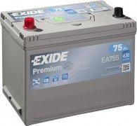 EXIDE PREMIUM 12V 75Ah 630A, EA755
