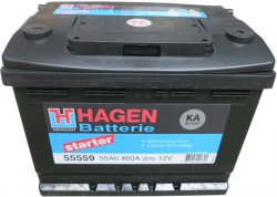 HAGEN 12V 55Ah 460A, 555 59