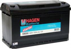 HAGEN 12V 90Ah 720A, 59050