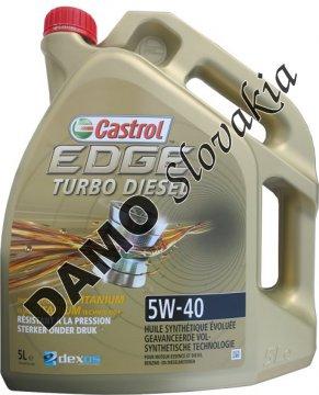 CASTROL EDGE TURBO DIESEL TITANIUM FST 5W-40 - 5l