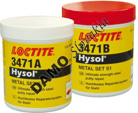 Loctite 3471 500g - metal set S1, oceľ pastovitá