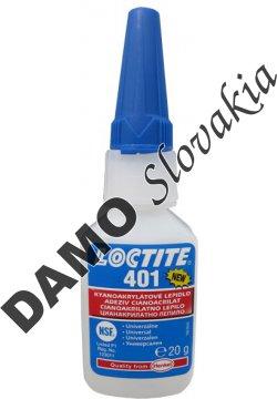 Loctite 401 20g - sekundové lepidlo pre kyslé povrchy
