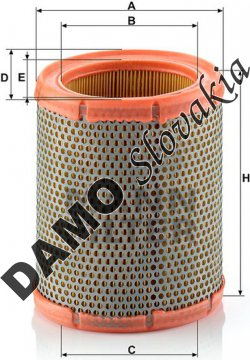 Vzduchový filter MANN FILTER C 1460