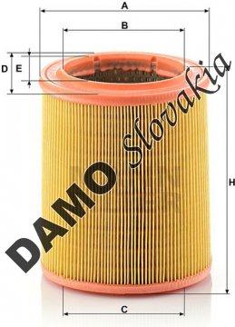 Vzduchový filter MANN FILTER C 1472