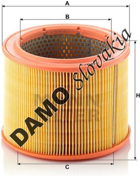 Vzduchový filter MANN FILTER C 1760/1