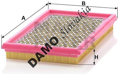 Vzduchový filter C 2966