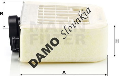 Vzduchový filter MANN FILTER C 38 011