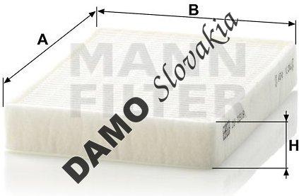 Kabínový filter MANN FILTER CU 1519