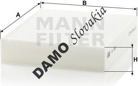 Kabínový filter MANN FILTER CU 1830