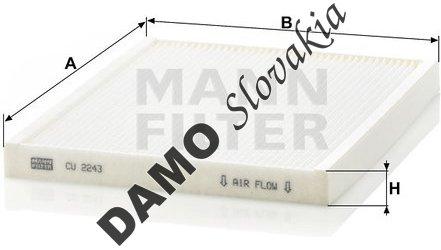 Kabínový filter MANN FILTER CU 2243