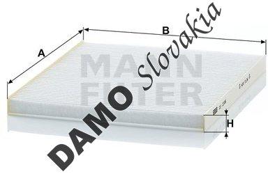 Kabínový filter MANN FILTER CU 2336