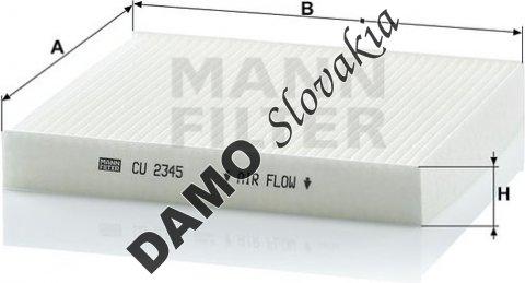 Kabínový filter CU 2345
