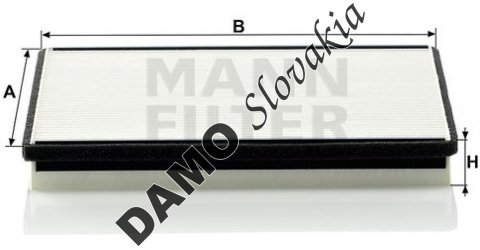 Kabínový filter MANN FILTER CU 2356