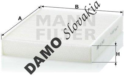 Kabínový filter MANN FILTER CU 2433