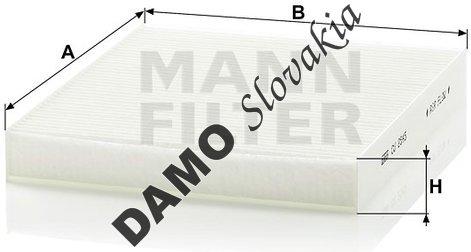 Kabínový filter MANN FILTER CU 2545