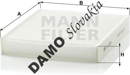 Kabínový filter MANN FILTER CU 2559