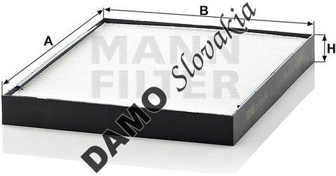 Kabínový filter MANN FILTER CU 2634