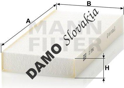 Kabínový filter MANN FILTER CU 2642
