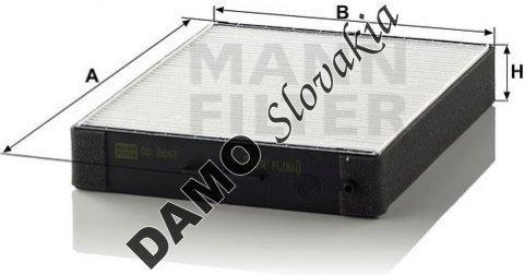 Kabínový filter CU 2647