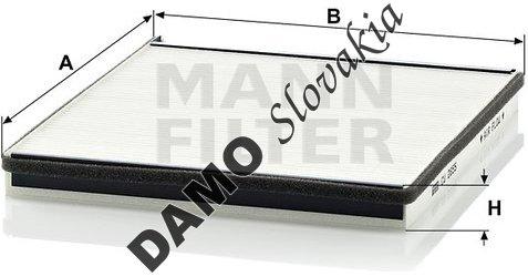 Kabínový filter MANN FILTER CU 2855
