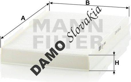 Kabínový filter MANN FILTER CU 2940