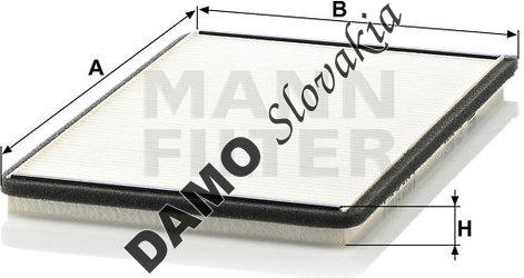 Kabínový filter MANN FILTER CU 3032